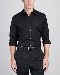 Alexander McQueen Harness Strap Stretch Shirt Black