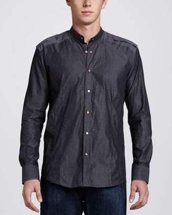 Bogosse Harry Military Sport Shirt Black