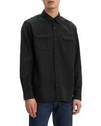Levi's Jackson Slim Fit Black Button Up Work Shirt