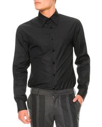 Alexander McQueen Jewel Button Long Sleeve Shirt Black
