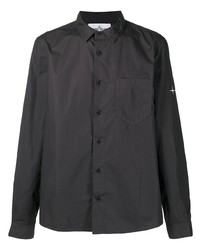 Stone Island Logo Patch Cotton Shirt
