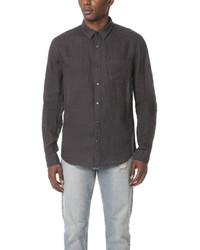 Vince Long Sleeve Natural Linen Shirt