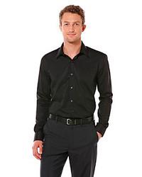 Perry Ellis Long Sleeve Twill Non Iron Button Down Shirt