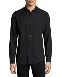 Theory Plaid Cotton Button Down Shirt