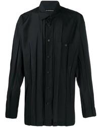Issey Miyake Men Pleated Pointed Collar Shirt