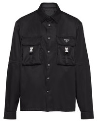 Prada Recycled Nylon Press Button Shirt