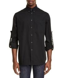 Burberry Runway Branded Slim Fit Roller Sleeve Shirt