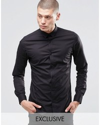 ONLY & SONS Skinny Concealed Button Down Collar Shirt