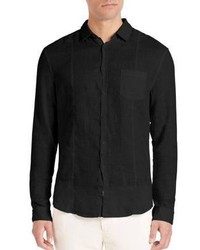 John Varvatos Slim Fit Linen Button Down Shirt