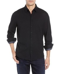 Stone Rose Trim Fit Basketweave Sport Shirt