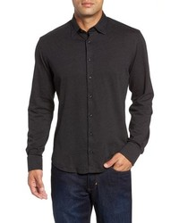 Stone Rose Trim Fit Birds Eye Sport Shirt