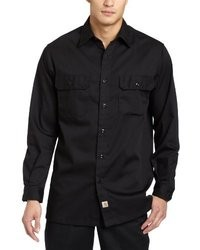 Carhartt Twill Long Sleeve Work Shirt Button Front S224