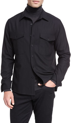 Vince Twill Military Shirt