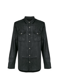 John Varvatos Waxed Button Shirt