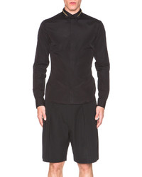 Givenchy Zip Collar Button Down Shirt