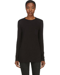 Alexander Wang T By Black Classic Long Sleeve T Shirt