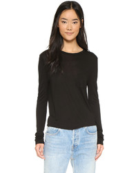 Alexander Wang T By Classic Cropped Long Sleeve Tee