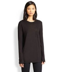 Alexander Wang T By Classic Long Sleeve Pocket Tee