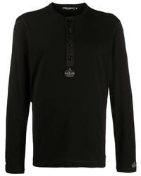 Dolce & Gabbana Beaded Motif Long Sleeved T Shirt