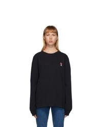AMI Alexandre Mattiussi Black Ami De Coeur Long Sleeve T Shirt