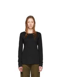 Raquel Allegra Black Ballet Long Sleeve T Shirt