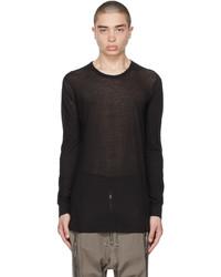 Rick Owens Black Basic Long Sleeve T Shirt