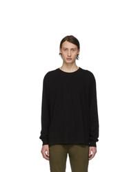 John Elliott Black Classic Long Sleeve T Shirt