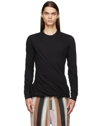 Rick Owens Black Double Long Sleeve T Shirt