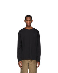 Acne Studios Black Elwood Face Long Sleeve T Shirt