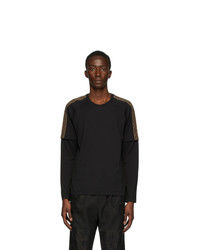 Fendi Black Ff Double Sleeve T Shirt