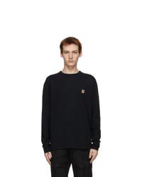 MAISON KITSUNÉ Black Fox Head Long Sleeve T Shirt