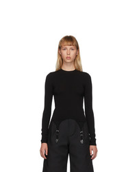 Dion Lee Black Garter Long Sleeve T Shirt