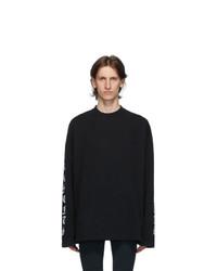 Vetements Black Gothic Font Long Sleeve T Shirt
