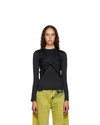 MARQUES ALMEIDA Black Layered Knot T Shirt