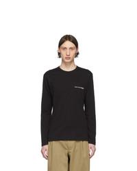 Comme Des Garcons SHIRT Black Logo Long Sleeve T Shirt