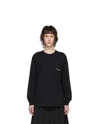Comme des Garcons Homme Plus Black Logo Long Sleeve T Shirt