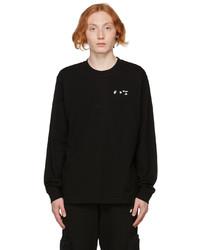 Off-White Black Logo Long Sleeve T Shirt