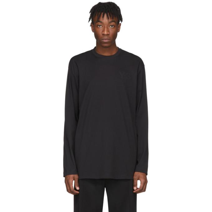 Y-3 Black Logo Long Sleeve T Shirt