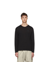 Acne Studios Black Long Sleeve Nash Face T Shirt
