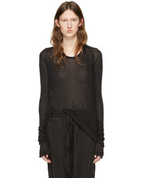 Haider Ackermann Black Long Sleeve T Shirt