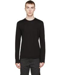 Dolce & Gabbana Black Long Sleeve T Shirt
