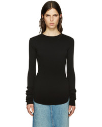 Helmut Lang Black Long Sleeve T Shirt