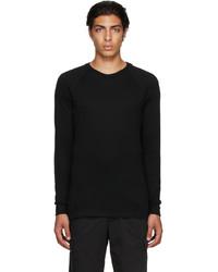 Ermenegildo Zegna Black Mesh Long Sleeve T Shirt