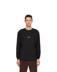 MSGM Black Micro Logo Long Sleeve T Shirt