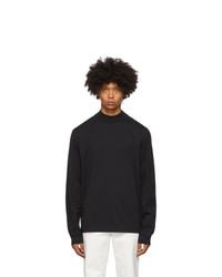 Acne Studios Black Mock Neck Long Sleeve T Shirt