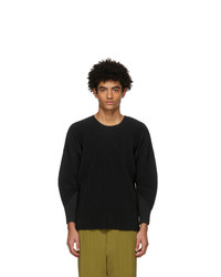 Homme Plissé Issey Miyake Black Monthly Colors January Long Sleeve T Shirt