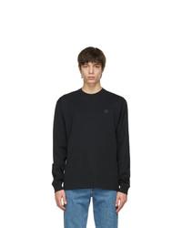 Acne Studios Black Nash Patch Long Sleeve T Shirt