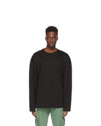 Juun.J Black Nouvelle Tendance Long Sleeve T Shirt