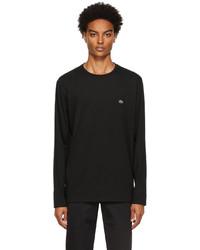 Lacoste Black Pima Cotton Long Sleeve T Shirt