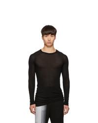Rick Owens Black Rib Long Sleeve T Shirt